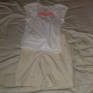 girls size 7/8 Top and Shorts set